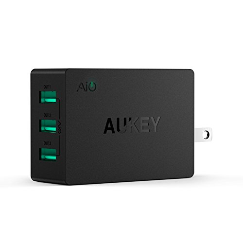 AUKEY-USB-Wall-Charger-with-3-Port-Foldable-Plug-for-iPhone-77-Plus-iPad-ProAir-2-and-More