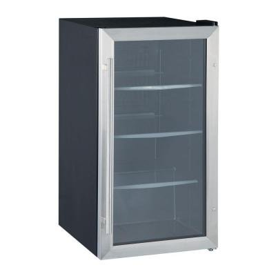Vissani 17 in. Wide 90 cans Beverage Cooler in Stainless Steel