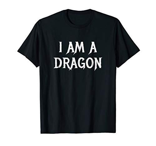 Funny I am A Dragon Easy Halloween Costume idea Tshirt