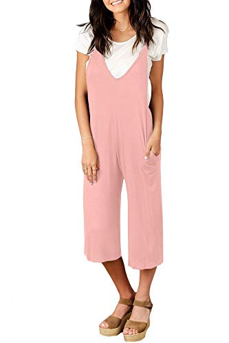 7006994d4b Spadehill Women s Casual Loose Fit Jumpsuit with Pocket