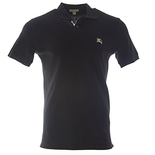 Burberry Brit Men's Check Placket Polo Shirt XX-Large - Black Burberry
