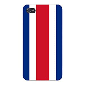 Apple iPhone Custom Case 6 4.7 White Plastic Snap On - World Country National Flags - Costa Rica