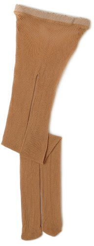 Capezio Big Girls' Studio Basics Fishnet Seamless Tight,Caramel,One Size