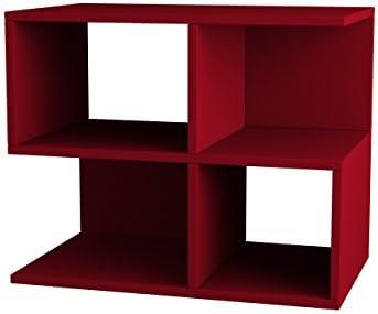 Ada Home D cor Sharon Side Table, 26 x 21 x 12 , Burgundy