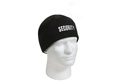 Weather Related Halloween Costumes (Security Guard Officer Polar Fleece Black Cold Weather Watch Skull Warm Cap Hat)
