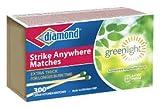 Diamond Greenlight Strike Anywhere Matches (3pk = 900 Total)
