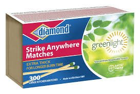 Diamond Greenlight Strike Anywhere Matches (3pk = 900 Total)