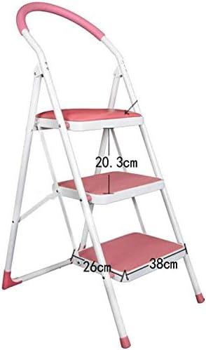SED Escaleras de tijera multipropósito, plegables 3 escalones Escalera unilateral Arte de hierro para escalera interior Loft Escalera antideslizante Taburete,rojo: Amazon.es: Bricolaje y herramientas