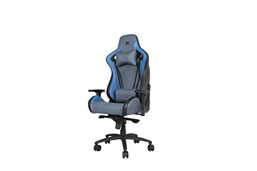 31fByYy81LL - Carbon Line Blue on Grey Sleek Design Gaming & Lifestyle Chair for Big and Tall by RapidX