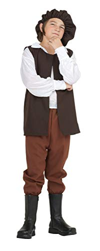 RG Costumes Renaissance Boy Costume, Brown/White, Medium]()