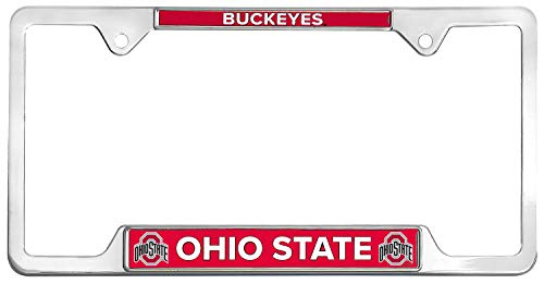 Tags Plate Frame (All Metal NCAA Mascot License Plate Frame (Ohio State))