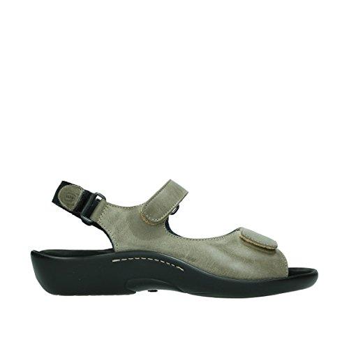 Leder 215 Salvia Gris Womens Black Sandals 1300 taupe Wolky 8qwCOxTC