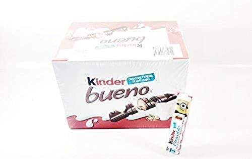 Box Of Kinder BUENO Milk Chocolate Bar 10 pack Authentic Mexican ...