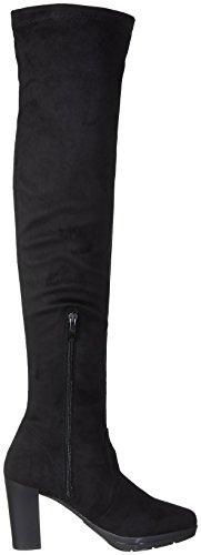NR RAPISARDI Damen D1403 Stiefel Schwarz (Black Chamois)