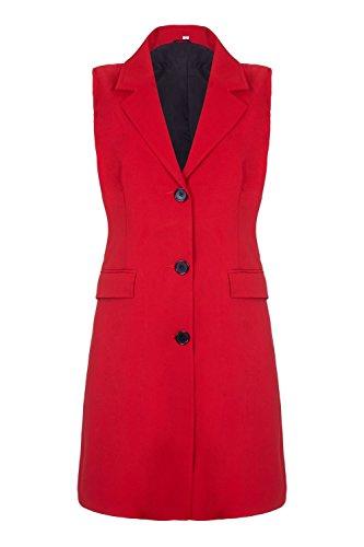 chaqueta Verano Mangas Crème hasta americana cadera mujer Rojo La primavera De Sin q5awzXx5Y