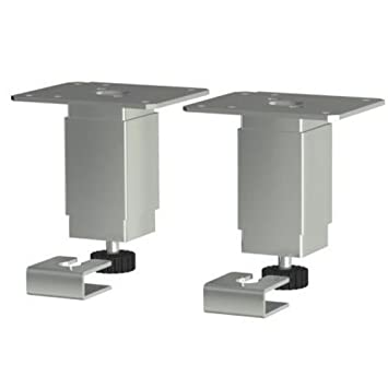 High Quality Ikea Set Of 2 Utby 4u201d To 5 ½u201d Height Adjustable Cabinet Leg Stainless