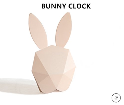 Alarm Clock,OrangePP LED Night Light,Kids Animal Lighting Nursery Lamp,Bunny Rabbit Night Light,Voice Control Sound Sensitive Baby Gift Digital Alarm Clock With Temperature (Pink) (Spirit Halloween Light And Sound Control)