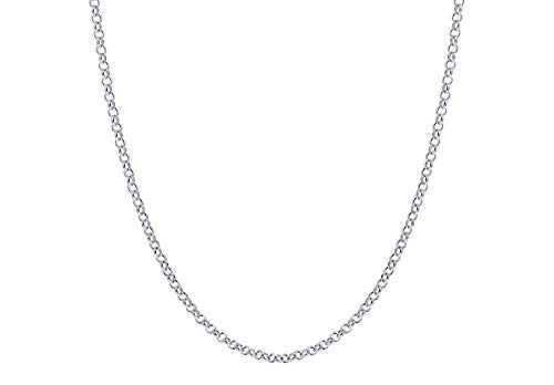 Verona Jewelers 925 Sterling Silver 1.5MM 2MM 2.5MM Circle Rolo Link Chain Necklace- Rolo Link Necklace for Women, Necklace for Pendant,16,18,20,24,30 (16, 1.5MM)