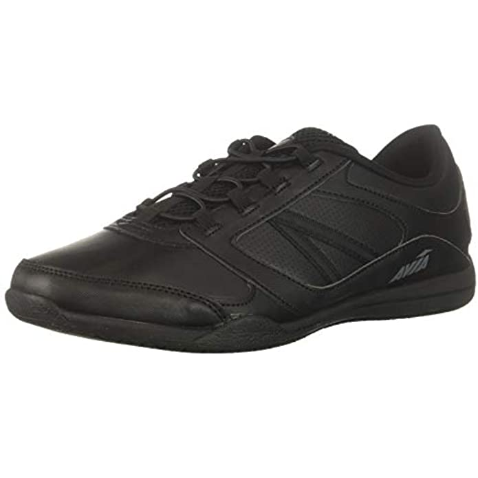 Avia Focus Black Non Slip Shoes for Women – Comfort Shoes for Work, Nursing, Restaurants, & Walking