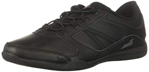 Avia Women's Avi-Focus Food Service Shoe, Black/Metallic Iron Grey/Chrome Silver, 7 Wide US