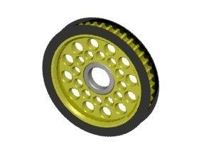 3Racing #3R/3RAC-3PY/41 Aluminum Diff. Pulley Gear T41 for 3Racing Sakura D3 CS Sport