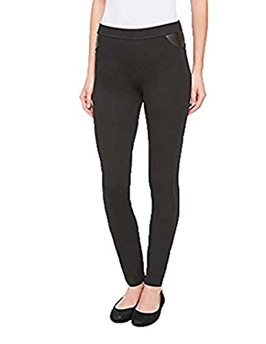 DKNY Womens Ponte Pants (Black, Medium) (Dkny Womens Pants)