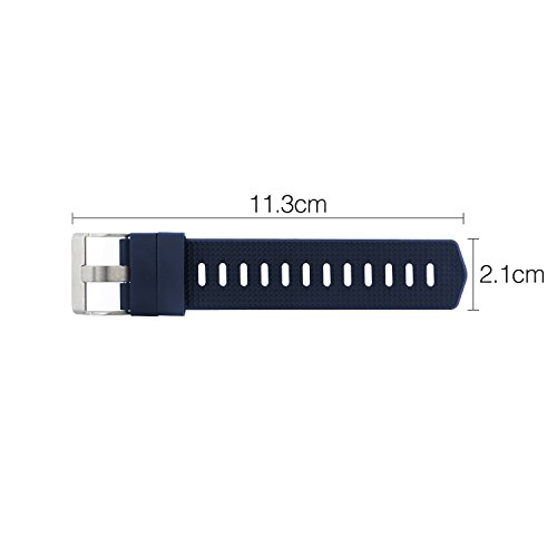 Tkasing Band Extender for Fitbit CHARGE/ Fitbit Charge HR/ Fitbit CHARGE 2 Band - For larger sized wrists or ankle wear (Blue L)