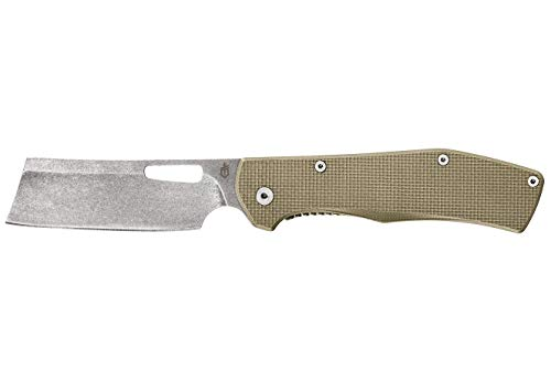 Gerber Flatiron - Folding Cleaver Pocket Knife - Desert Tan G-10 Handle [30-001495]