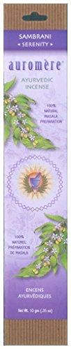 おいしい欠伸ブリーフケースAuromere Ayurvedic Incense、Sambrani (Serenity)