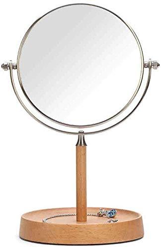 XQY Makeup Mirror,Desktop Countertop Mirror European Princess Mirror Simple Dressing Mirror Desktop -