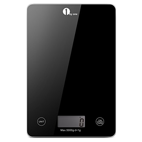 1byone-Food-Scale-Digital-Kitchen-Scale-Weigh-in-Gram-LB-and-OZ-Cooking-Scale-Baking-Scale-Digital-Coffee-Scale-from-017oz-up-to-11-lbs-Weigh-Max-5000g-11lbs-Black