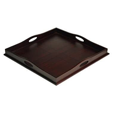 Mountain Woods 23  Square Ottoman Luxury Wooden Serving Tray
