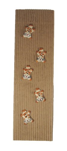 Fair Trade Ceramic Buttons - Cats Style 35
