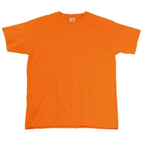 Fruit Of The Loom - Camiseta Básica de manga corta de calidad superior para hombre Naranja