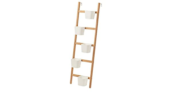 IKEA SATSUMAS 102.581.55 - Soporte para plantas (5 macetas, bambú), color blanco: Amazon.es: Hogar
