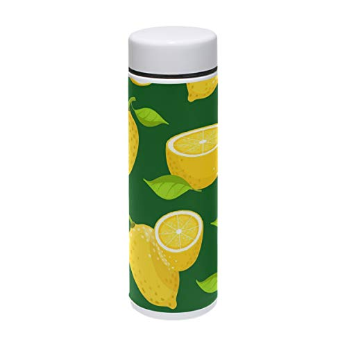 low Lemon Insulated Stainless Steel Water Bottle Double Wall Travel Coffee Mug Personalized DIY 7 oz/220ml ()