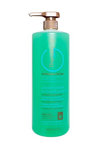 Chemically Treated Hair Shampoo (Therapy-G Antioxidant Shampoo For Chemically Treated Hair . For thinning, fine hair and anti hair loss. Hair regrowth and color protector Liter 33.8 oz)