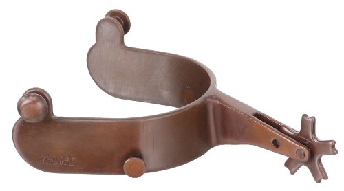 Tough 1 Bull Rider Blue Steeled Rodeo Spurs, Brown