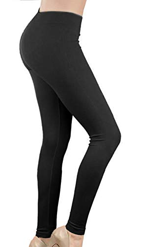Smile fish Women's Neon Leggings Seamless Stretchy Tights for 80s Costume Party (Black,M) ()