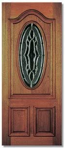 Cheltenham doble acristalamiento de madera puerta Exterior Tamaño: 213,5 cm H x 91,5 cm W x 4,4 cm D: Amazon.es: Hogar