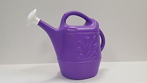 Union 63171 Tulip Plastic Watering Can, 1 gallon, Purple