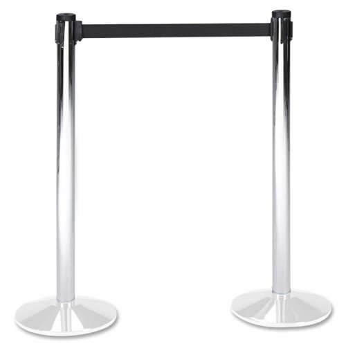 (Wholesale CASE of 2 - Tatco Adjusta-Tape Crowd Control Stanchions-Stanchion Flat Bases, Box 2 of 2, 14