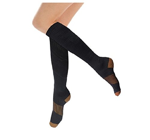 Mystiqueshapes 3Pack Copper Infused Miracle Compression M...