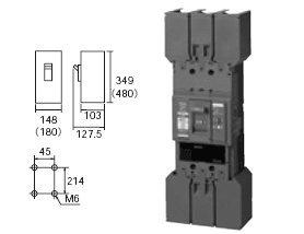 【クリックで詳細表示】<title>Amazon.co.jp: パナソニック電工 漏電ブレーカ BJW型 300A・100/200/500mA切替 3P3E OC付[モータ保護&#x51