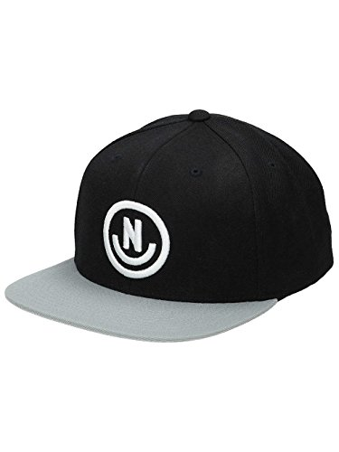 NEFF Men's Daily Smile Snapback Custom Fitted Hats, Black/Grey, One - Best Snapbacks Black