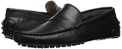 Lacoste Men's Concours 10 LCR Srm Slip-On Loafer, Black, 10.5 M US