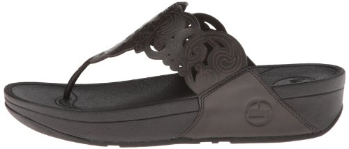 Pictures of FitFlop Women's Flora Black 8 M (B) Black 8 M US 4