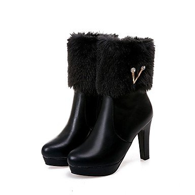 Winter Fashion Heel Booties Black Toe CN39 Casual White Boots Boots Shoes Boots Dress EU39 Ankle US8 Women'S Chunky For Pink Round Blushing Leatherette UK6 RTRY 8PxIwtqH