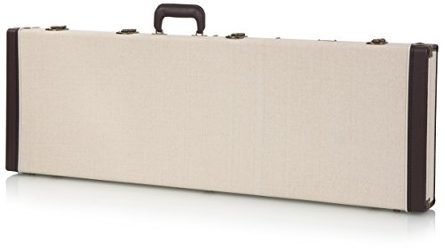 Gator Cases Journeyman Series Deluxe Wood Case for Electric Bass Guitars; Fits Fender Precision/Jazz Bass, & More (GW-JM-BASS)