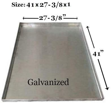 Pinnacle Systems Replacement Tray for Dog Crate Chew-Proof and Crack-Proof Metal Pan for Dog Crates